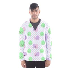 Egg Easter Smile Face Cute Babby Kids Dot Polka Rainbow Hooded Wind Breaker (Men)