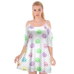 Egg Easter Smile Face Cute Babby Kids Dot Polka Rainbow Cutout Spaghetti Strap Chiffon Dress