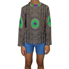 In The Stars And Pearls Is A Flower Kids  Long Sleeve Swimwear