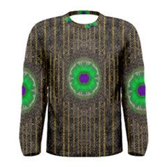 In The Stars And Pearls Is A Flower Men s Long Sleeve Tee