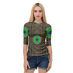 In The Stars And Pearls Is A Flower Quarter Sleeve Tee