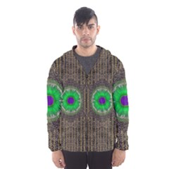 In The Stars And Pearls Is A Flower Hooded Wind Breaker (Men)