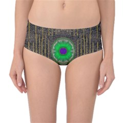 In The Stars And Pearls Is A Flower Mid-Waist Bikini Bottoms