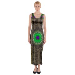 In The Stars And Pearls Is A Flower Fitted Maxi Dress