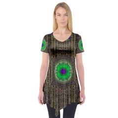 In The Stars And Pearls Is A Flower Short Sleeve Tunic