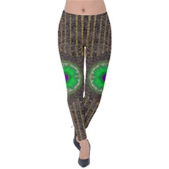 In The Stars And Pearls Is A Flower Velvet Leggings