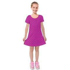 Dots Kids  Short Sleeve Velvet Dress