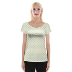 Dots Women s Cap Sleeve Top