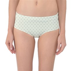 Dots Mid-Waist Bikini Bottoms