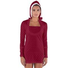 Dots Women s Long Sleeve Hooded T-shirt