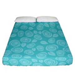Floral pattern Fitted Sheet (California King Size)