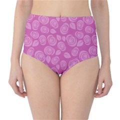 Floral pattern High-Waist Bikini Bottoms