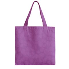 Floral pattern Zipper Grocery Tote Bag