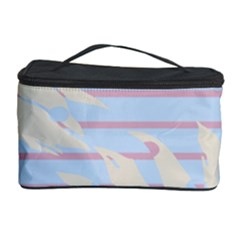 Flower Floral Sunflower Line Horizontal Pink White Blue Cosmetic Storage Case
