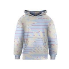 Flower Floral Sunflower Line Horizontal Pink White Blue Kids  Pullover Hoodie