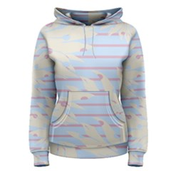 Flower Floral Sunflower Line Horizontal Pink White Blue Women s Pullover Hoodie