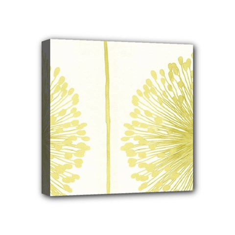 Flower Floral Yellow Mini Canvas 4  x 4