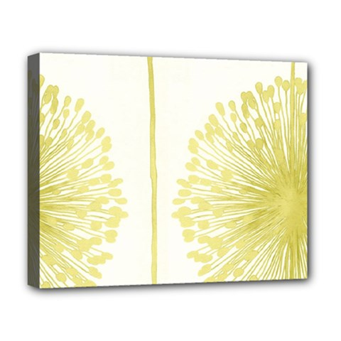 Flower Floral Yellow Deluxe Canvas 20  x 16