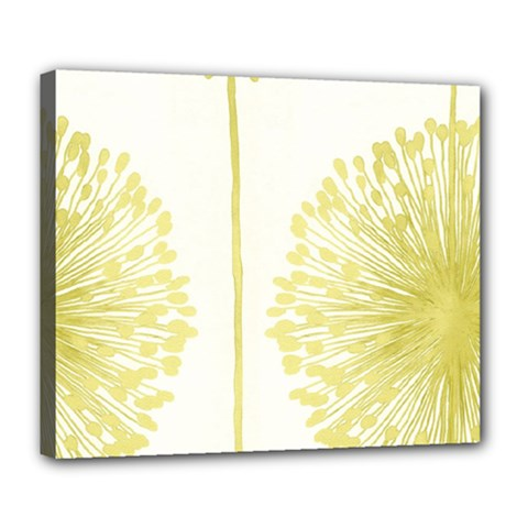 Flower Floral Yellow Deluxe Canvas 24  x 20