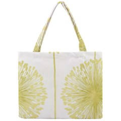 Flower Floral Yellow Mini Tote Bag