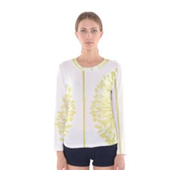 Flower Floral Yellow Women s Long Sleeve Tee