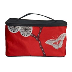 Dandelions Red Butterfly Flower Floral Cosmetic Storage Case