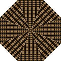 Geometric Shapes Plaid Line Hook Handle Umbrellas (Medium)