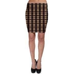Geometric Shapes Plaid Line Bodycon Skirt