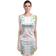 Frame Flower Floral Sunflower Line Classic Sleeveless Midi Dress