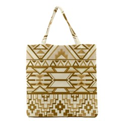 Geometric Seamless Aztec Gold Grocery Tote Bag