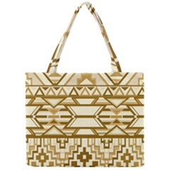 Geometric Seamless Aztec Gold Mini Tote Bag