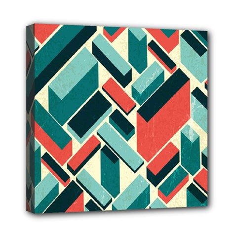 German Synth Stock Music Plaid Mini Canvas 8  X 8