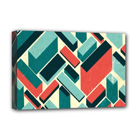 German Synth Stock Music Plaid Deluxe Canvas 18  x 12