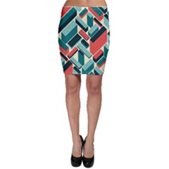 German Synth Stock Music Plaid Bodycon Skirt