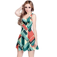 German Synth Stock Music Plaid Reversible Sleeveless Dress