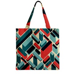 German Synth Stock Music Plaid Grocery Tote Bag
