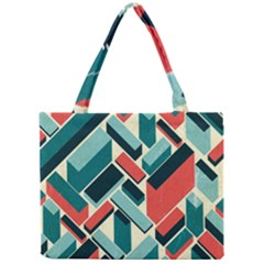 German Synth Stock Music Plaid Mini Tote Bag