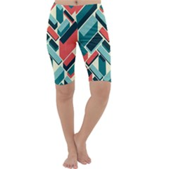 German Synth Stock Music Plaid Cropped Leggings