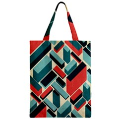 German Synth Stock Music Plaid Zipper Classic Tote Bag