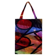 Graphic Shapes Experimental Rainbow Color Classic Tote Bag