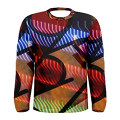 Graphic Shapes Experimental Rainbow Color Men s Long Sleeve Tee