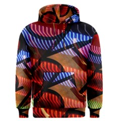 Graphic Shapes Experimental Rainbow Color Men s Pullover Hoodie