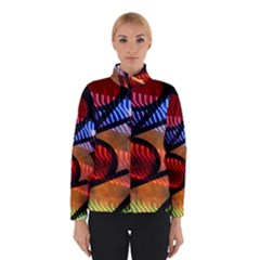 Graphic Shapes Experimental Rainbow Color Winterwear