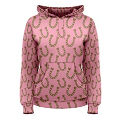 Horse Shoes Iron Pink Brown Women s Pullover Hoodie