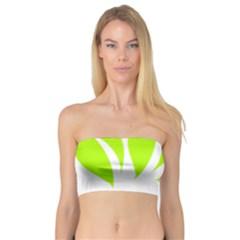 Leaf Green White Bandeau Top