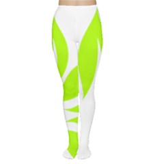 Leaf Green White Women s Tights