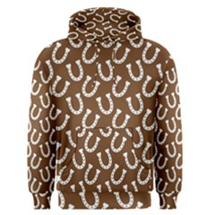 Horse Shoes Iron White Brown Men s Pullover Hoodie