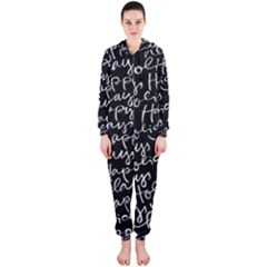 Happy Holidays Hooded Jumpsuit (Ladies)