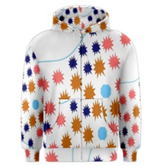 Island Top View Good Plaid Spot Star Men s Zipper Hoodie