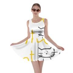 Lemon Animals Cat Orange Skater Dress